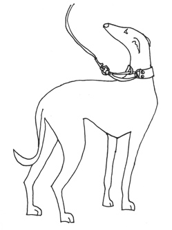 whippet clipart
