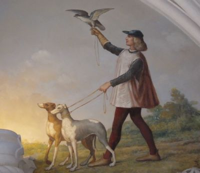 Fresco with whippets or greyhound